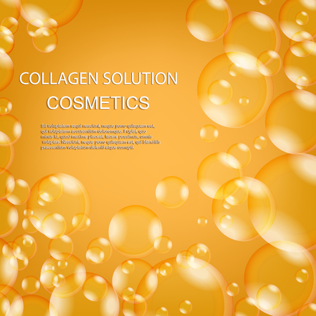 Oil bubbles. Collagen. Cosmetics for beauty and youth. Modern technologies.