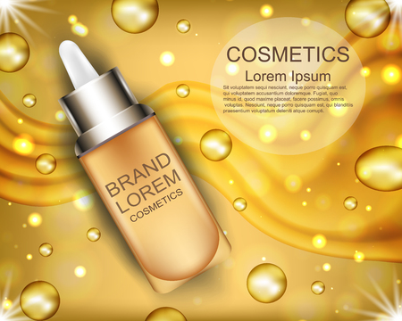 Realistic beauty product ads template design.