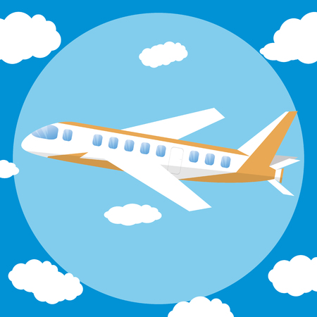 Aircraft icon illustration.