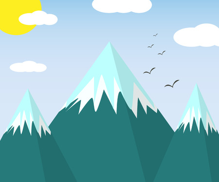 The mountains on Nature during Winter For your design.