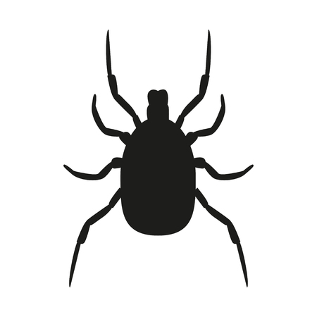 Mite. A dangerous insect. Caution. Encephalitis. Warnings. For your design.