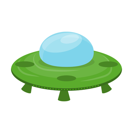 The newcomer. Extraterrestrial civilizations. Alien. Icon. Flying saucer. For your design.