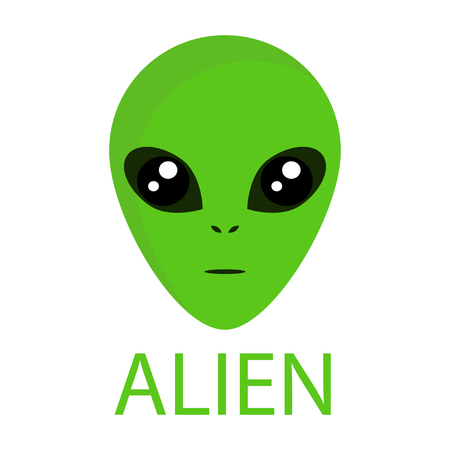 The newcomer, extraterrestrial civilizations. Alien icon, flying saucer for your design. Illustration