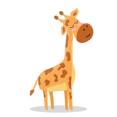 Cute. Giraffe. A cartoon. Scandinavian style. Children's. print. For a boy and a girl. For otkrvtki, clothes.