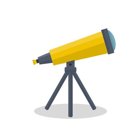telescope icon vector illustration isolated on white background. Illustration