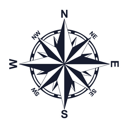 Compass. Direction. North West East South. For your design. Icon.