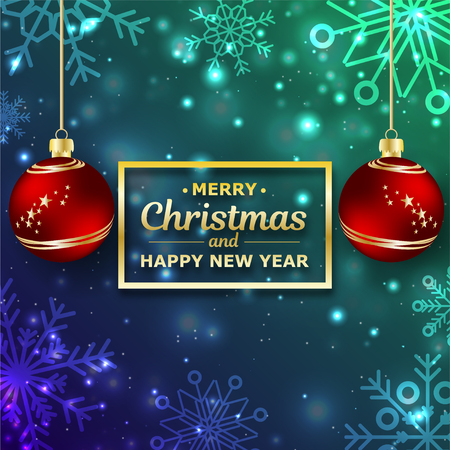 New Year. 2019. Christmas. Christmas decorations. Background. Bright colorful design. Shine Bokeh. For your design. Çizim