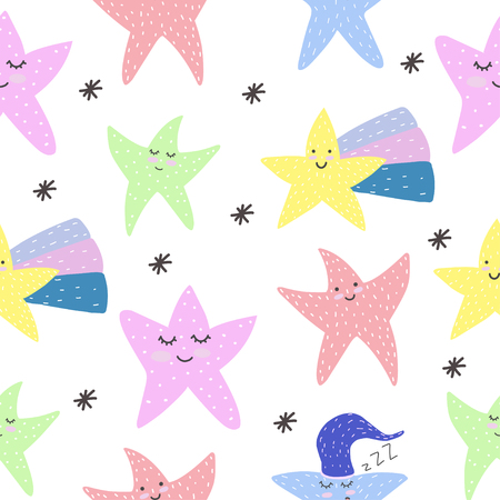 Cute. Stars. Motivation. Scandinavian style. Postcard. Bright childrens design.