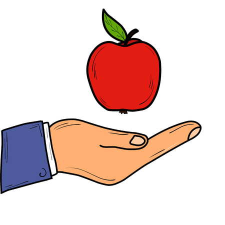 Apple. Fruit. Symbol of health. Training. Bright. For your design. Standard-Bild - 127352140
