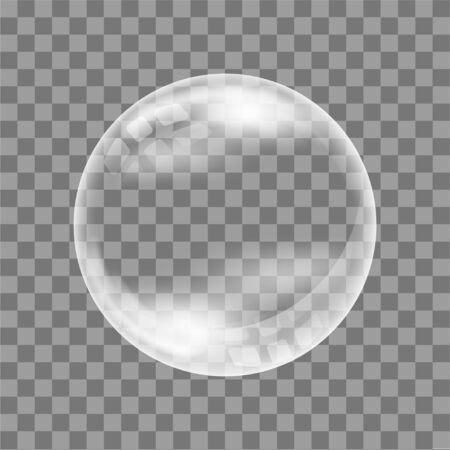 Realistic soap bubble. On a transparent background. For your design.