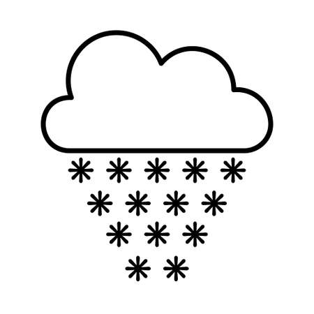 Cloud snow icon, great design for any purposes. Simple vector illustration. Leaf line icon set. Web icon set. Isolated vector icon. Illustration