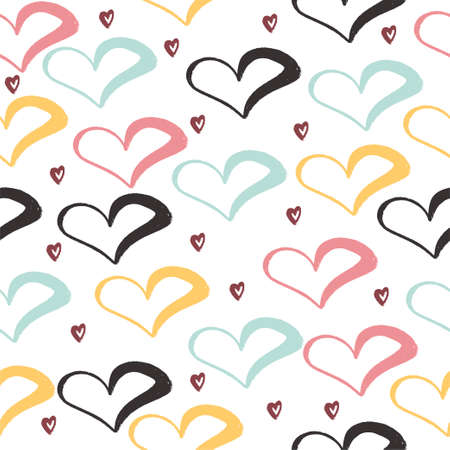 Seamless pattern. Heart. For use on greeting cards, packaging. For your design.