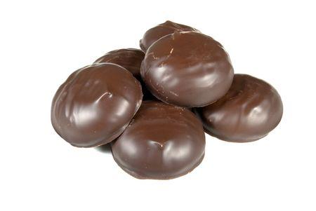 zephyr: zephyr coated chocolate frosting closeu