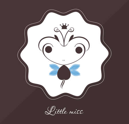 Little miss fly creative background.