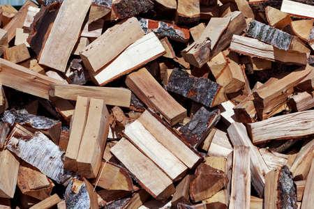 woodsy: Autumn multicolour big heap of fresh firewood
