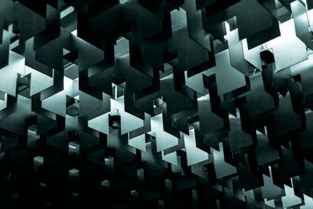 rigid: Nice ceiling lamp abstract rigid forms in hall