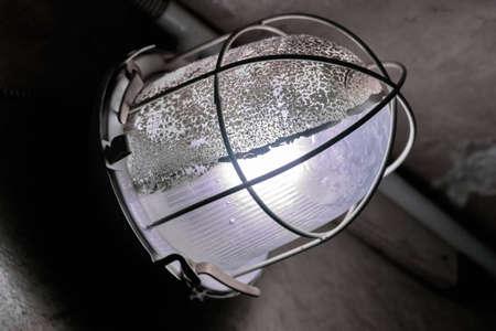 dungeon: Nice mystic light lantern in dungeon at dark