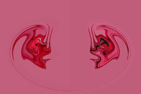 photoshop: Abstract mirrored background in photoshop on dark pink background
