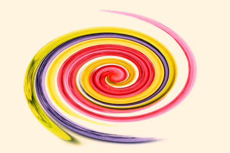 photoshop: Abstract multicolored nice spiral processed in photoshop Stock Photo