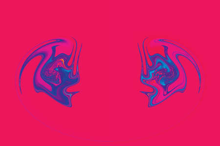 photoshop: Abstract mirrored background in photoshop on pink background
