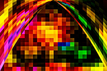 colorific: Multicolor abstract background with squares for fantasy and ideas Stock Photo