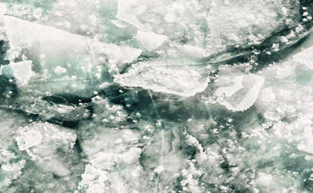 ice floes: Winter beautiful ice floes in deep water