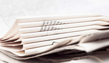 broadsheet newspaper: Light sheets of newspaper for readers and newsmakers Stock Photo