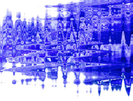 Blue creative abstraction on white isolated background