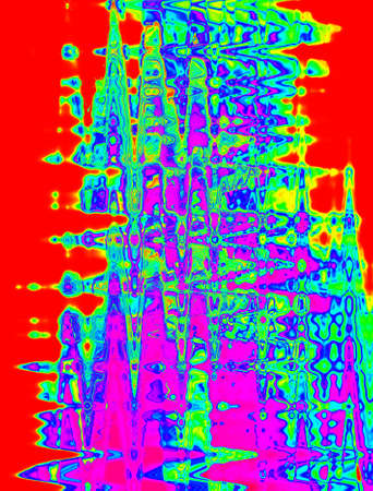Multicolored abstraction for imagination in red and lilla main colours Stock Photo