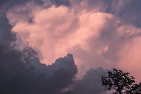 Great pink-grey storm sky for eternal emotions