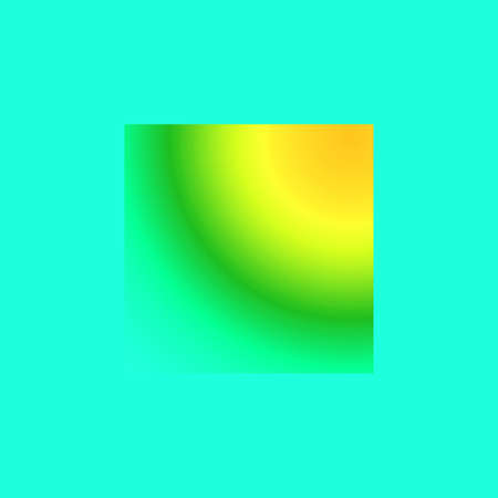 Creative square with abstraction in turquoise, yellow and green for fantasy Stock Photo