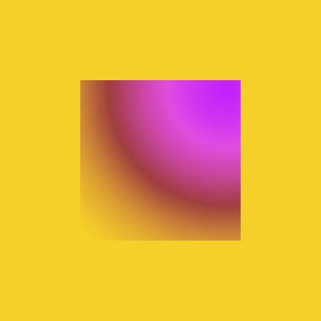 Creative square with abstraction in yellow and lilla colours for fantasy