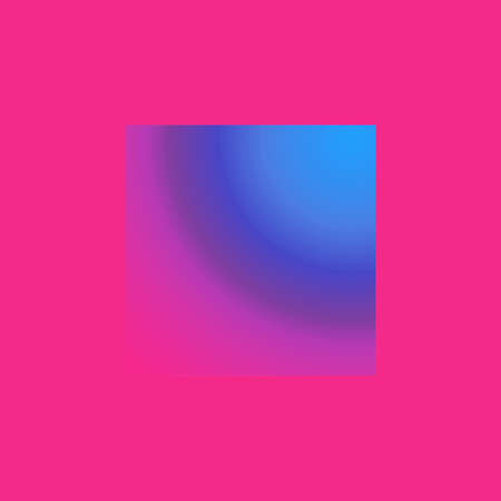 Creative square with abstraction in pink  and blue colours for fantasy Stock Photo