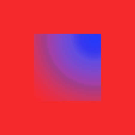 Creative square with abstraction in red and lilla blue colours for fantasy