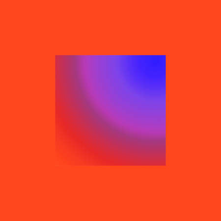 Creative square with abstraction in light red and lilla blue colours for fantasy