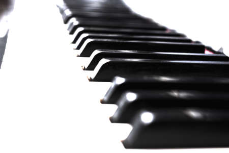 Mystic close up piano keys black and white Stock Photo - 114742059