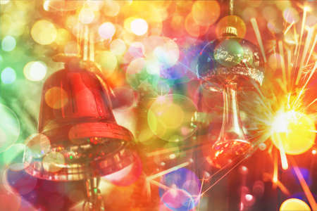 Colourful bright new year fantasy for best creative ideas Stock Photo