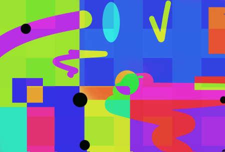 Very original crew multi-color fantasy with geometric shapes