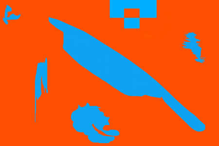 Original abstraction in blue and orange for crew ideas Stock Photo