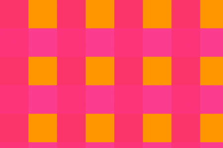 Crew abstract with yellow squares on pink background