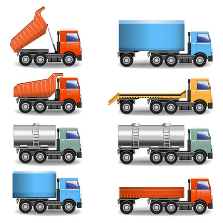 ciężarówka: ikony ciężarówka