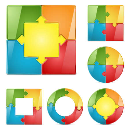 graph set Stock Vector - 21016280
