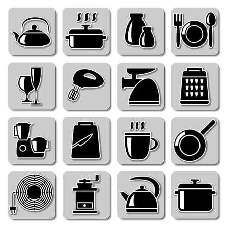 kitchener: kitchenware icons
