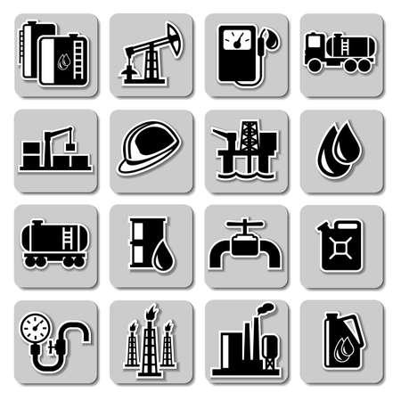iconos de la industria del petróleo