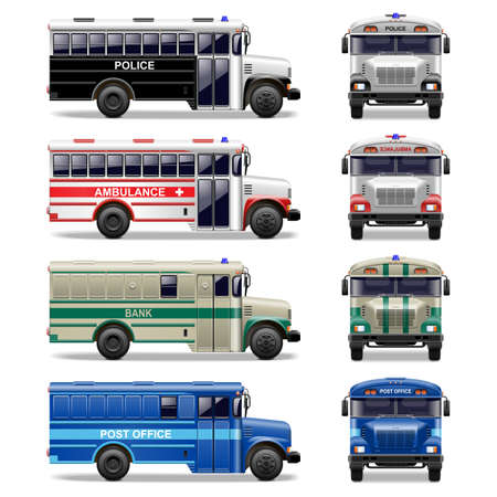 intercity: Vector special bus icons