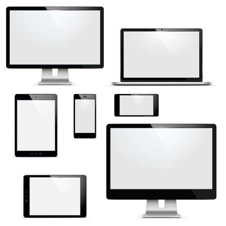 electronic devices: Vector electronic devices set