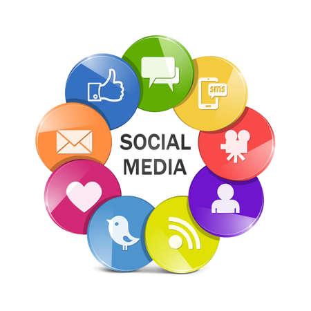 Vector social media concept Stock Vector - 21011336