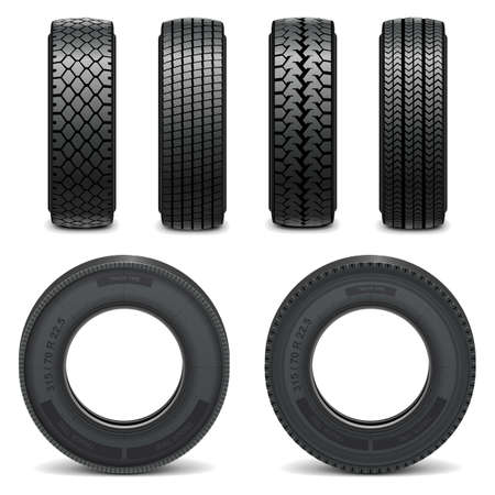 tyre tread: Vector tire icons