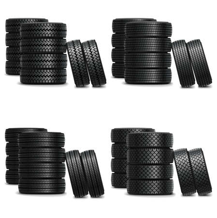 tire cover: Vector truck tire sets