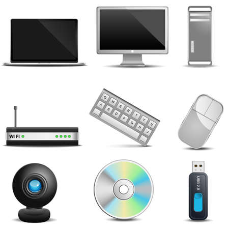 Computer icons Stock Vector - 21087389